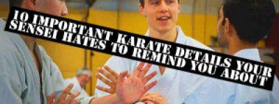 10 Importanti dettagli del karate che Il tuo Sensei odia ricordarti