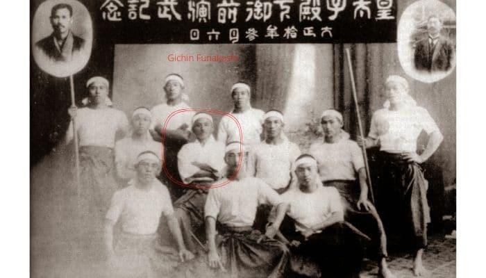 Il gruppo della prima esibizione di Tode a Okinawa il 06-03-1921