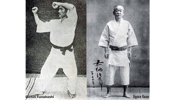 Gi indossato dal M° Funakoshi e dal M° Kano