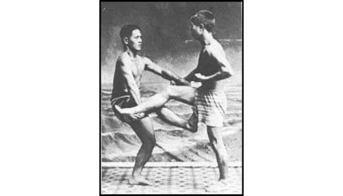 Chojun Miyagi e Juhatsu Kiyoda da giovani